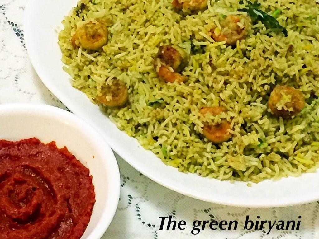 The Green Shrimp Biryani